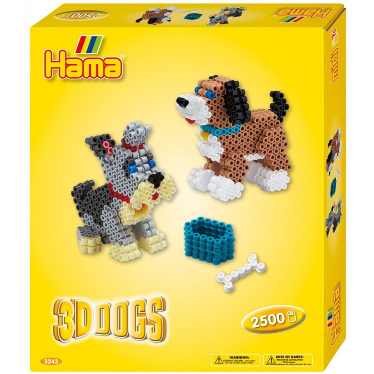 Hama Beads 3D Dogs Box 2500pc